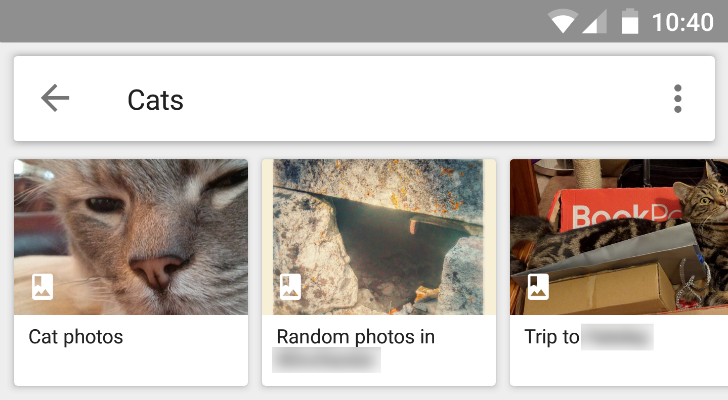 Google Photos now has albums included in search results