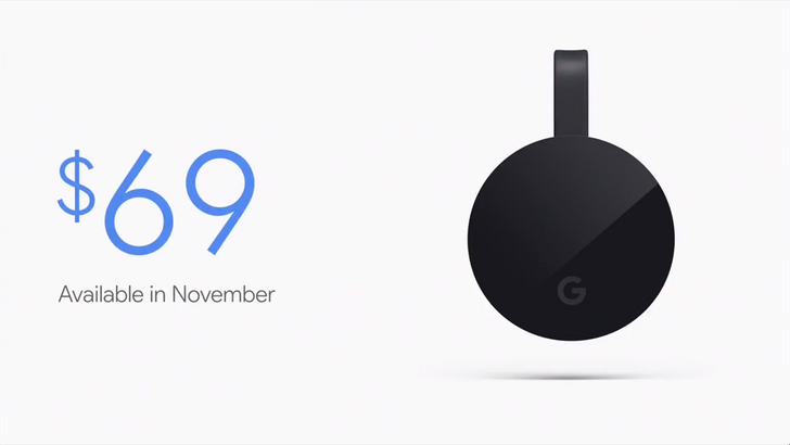Chromecast Ultra formally announced, will cost $69
