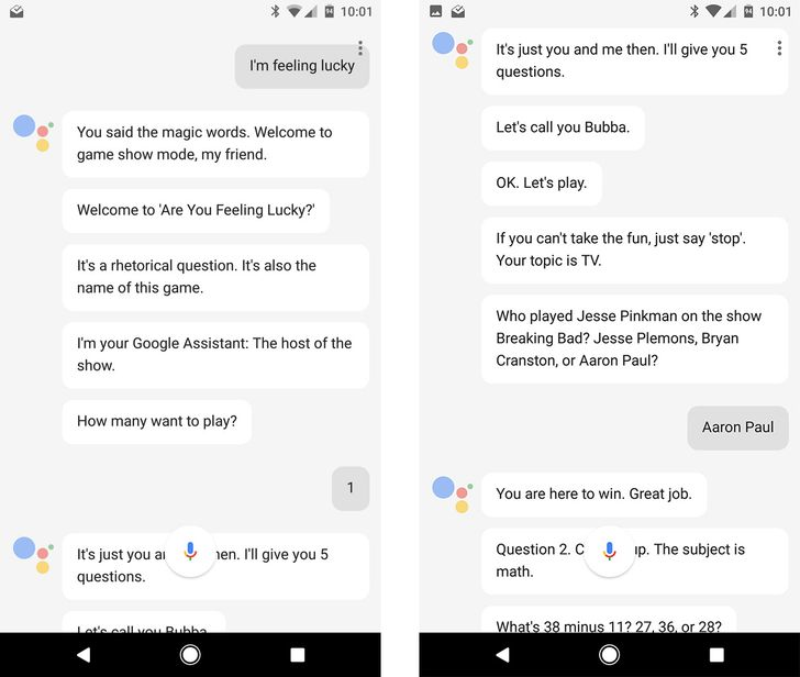 Google Assistant on the Pixel has a crazy 'I'm feeling lucky' game show mode