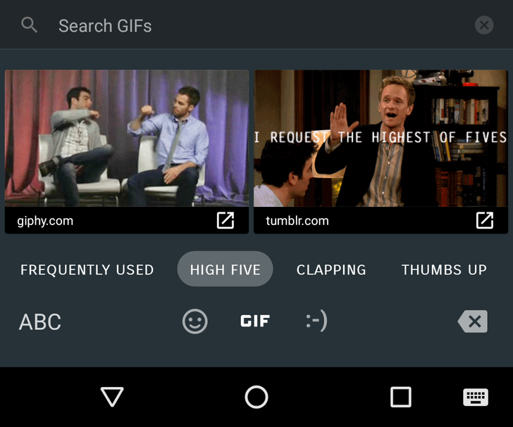 Android 7.1 feature spotlight: Send GIFs directly from the keyboard
