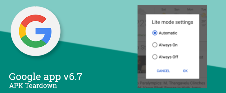 Google App 6.7.13 beta readies Lite Mode for data-constrained regions [APK Teardown]