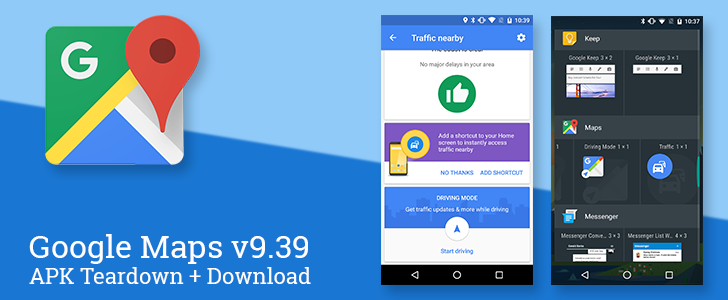 Google Maps v9.39 adds a handy traffic widget and hints at live data about busy places [APK Teardown + Download]