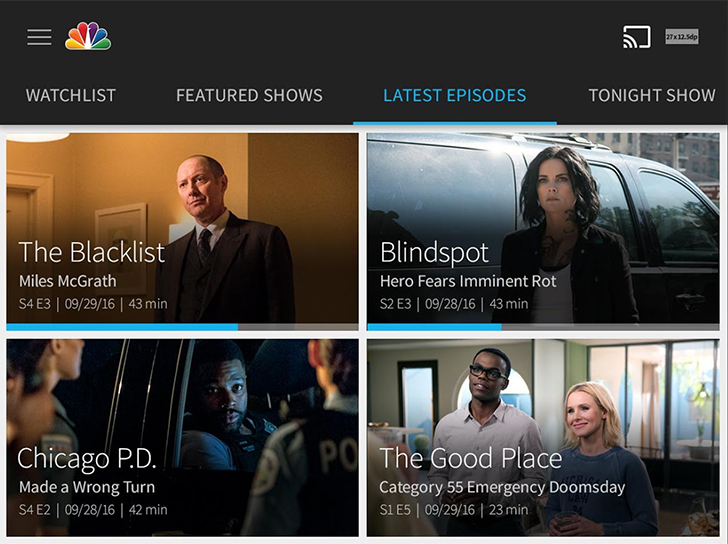 NBC's app gets a pretty modern design overhaul, fewer commercials, and better Chromecast support
