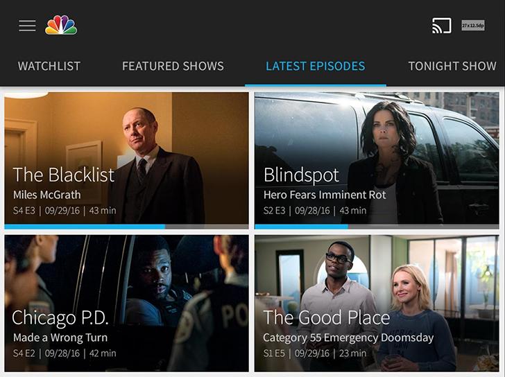 NBC's app gets a pretty modern design overhaul, fewer commercials, and better Chromecast support