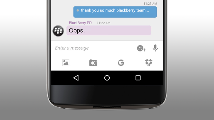 [Oops] Blackberry promotes infamous fake BBM review as praise for the new DTEK60