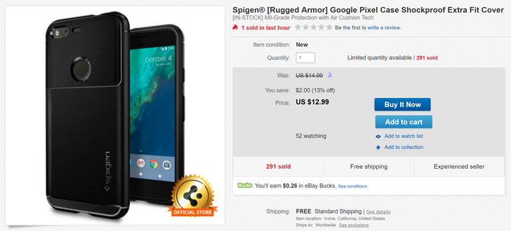 [Deal Alert] Get a Spigen Rugged Armor case for your Pixel or Pixel XL on eBay Daily Deals for just $13-14