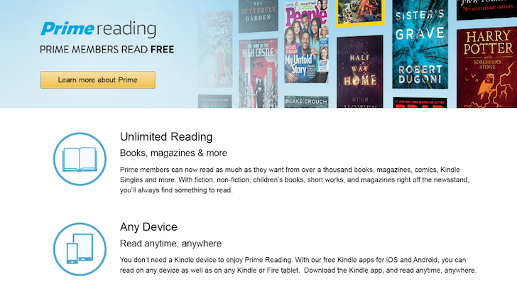 Amazon adds Reading benefit to its Prime membership to satisfy the book and magazine nerd in you