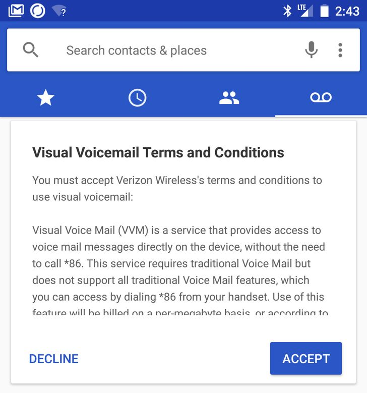 Android 7.1 feature spotlight: Verizon visual voicemail works in the stock phone app