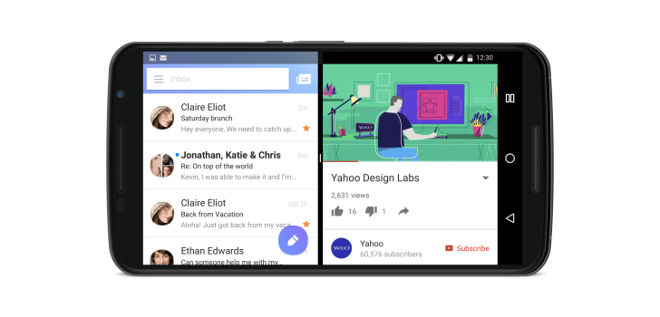 Yahoo Mail adds direct reply, bundled notifications, and multi-window support for Android Nougat