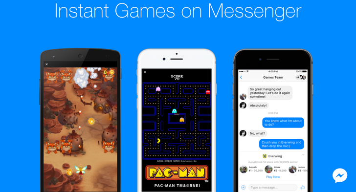 Now you can play games in your conversation threads within Facebook Messenger