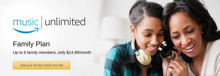 Amazon Music Unlimited family plan is available in the U.S.
