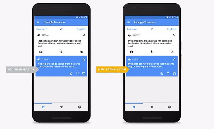 Google introduces Neural Machine Translation to Google Translate