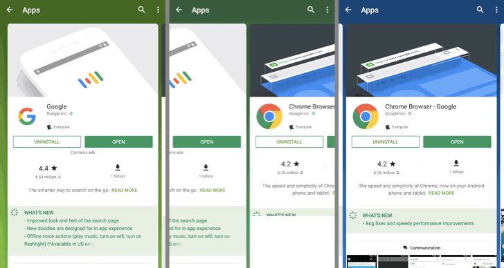 Play Store has new layout and transitions for search results, may be rolling out via server-side update