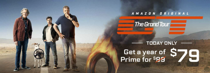 [Deal Alert] Get a year of Amazon Prime for just $79 today in celebration of The Grand Tour's launch