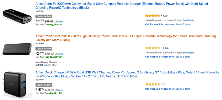 [Deal Alert] Save $12 on an Anker 20,100mAh battery and more as part of Amazon's Deal of the Day