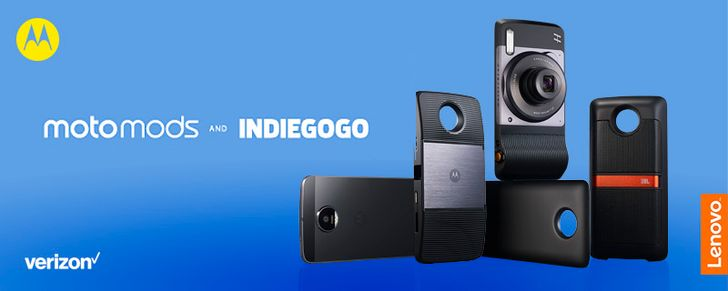 Motorola partners with Indiegogo to foster development of new Moto Mods