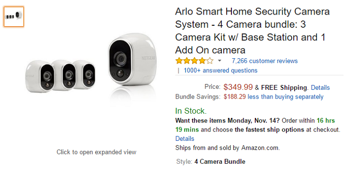 [Deal Alert] Arlo home security camera 4-pack is $350 ($150 off) at Amazon