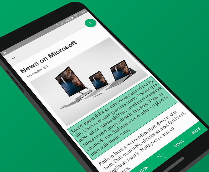 Microsoft's Clip Layer app lets you copy text from any screen by long-pressing the home button