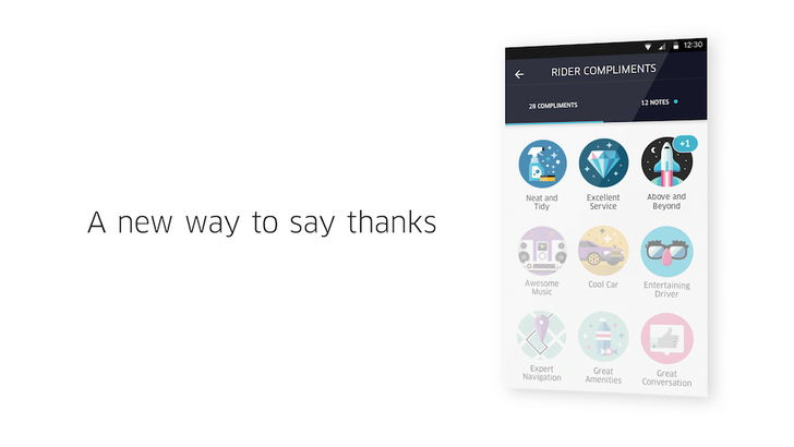 Uber wants you to shower your drivers with praise through its new feature, Compliments