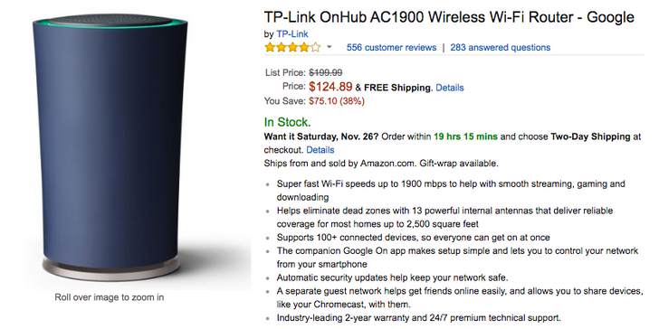 [Deal Alert] TP-Link and ASUS OnHub routers are 38% off (down $75) on Amazon