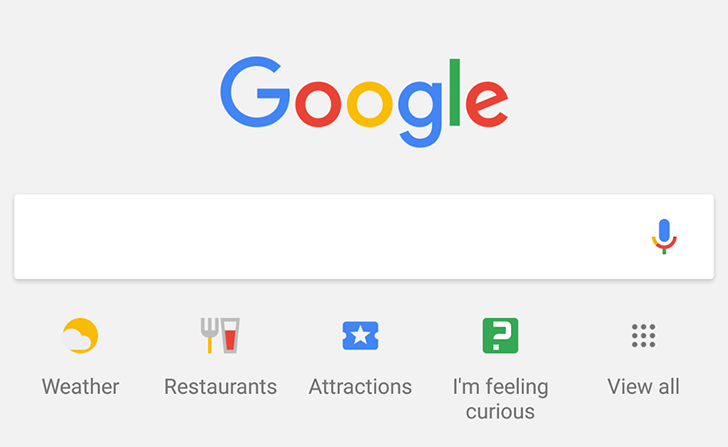 Google is testing a new layout for hints and search shortcuts