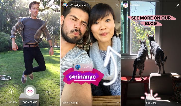 Instagram Stories get support for Boomerang videos, mentions, and links