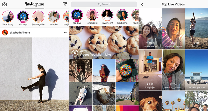 Instagram announces Live Video on stories, disappearing photos and video in direct messages