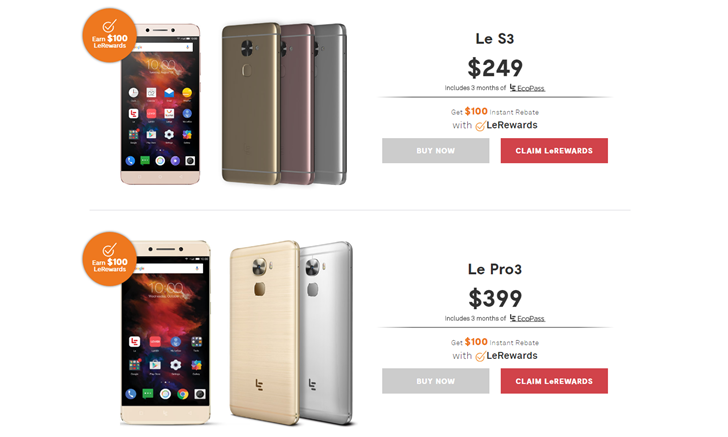 LeEco flash sale offers a limited number of Le S3 phones for just $149, Le Pro3 for $299, starting at 1 PM Eastern/10 AM Pacific