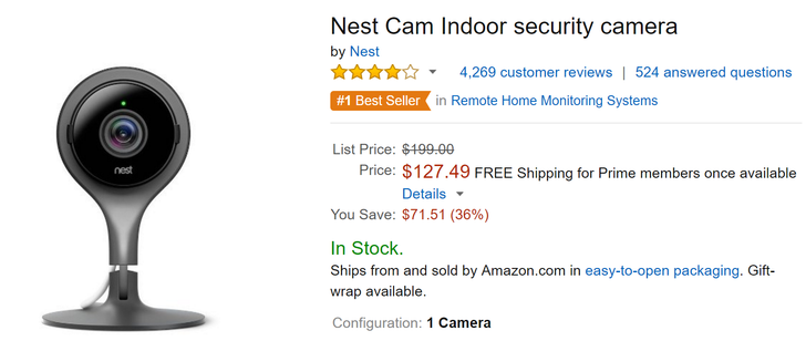 [Deal Alert] Nest Cam prices fall even lower at Amazon, indoor now $127, outdoor $170
