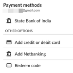 'Netbanking' is showing up as a payment method on the Indian Play Store