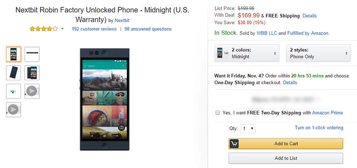 [Deal Alert] Nextbit Robin only $169.99 on Amazon