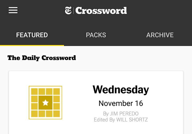 The famous New York Times crossword puzzles move across platforms and down to the Play Store