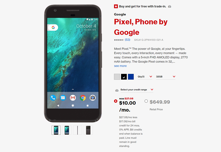 Verizon offers deep discounts on Pixel phones (as low as $240) and Google Home for Black Friday