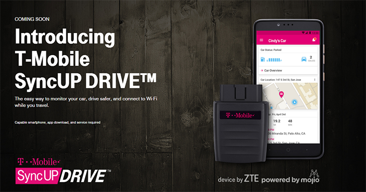 T-Mobile announces the SyncUp DRIVE, a 4G LTE hotspot for your car