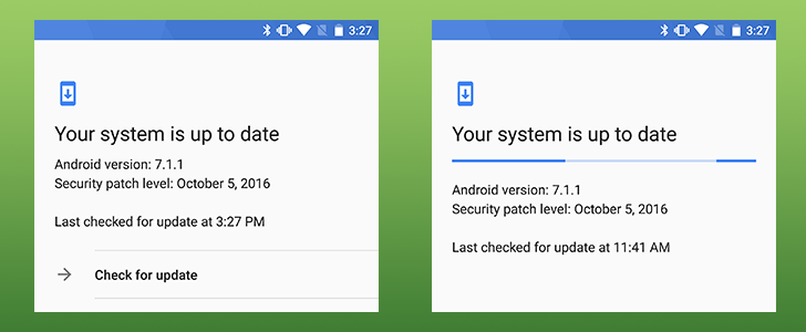 Latest Google Play services update restores the 'Check for updates' button on Nexus and Pixel devices