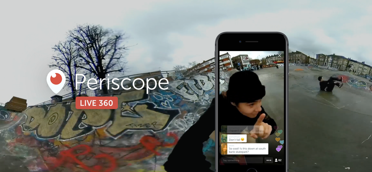Twitter announces Live 360 Video, powered by Periscope