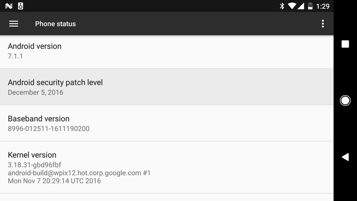 Google posts December 2016 security bulletin to go along with new OTA