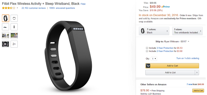 [Deal Alert] Fitbit Flex on sale for $49.99 ($20 off) via Amazon, but it won't ship right away