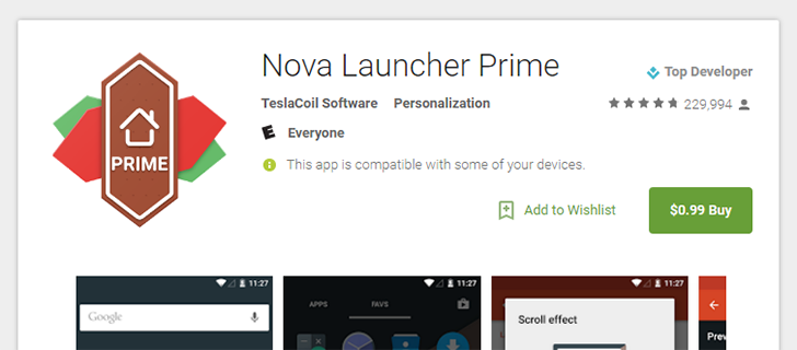 [Deal Alert] Nova Launcher Prime is $0.99 ($4.00 off) on the Play Store until January 1