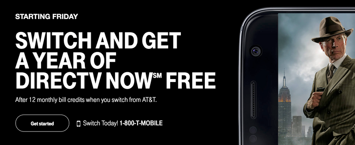 T-Mobile is offering AT&T customers a free year of DIRECTV NOW when they switch to T-Mobile ONE
