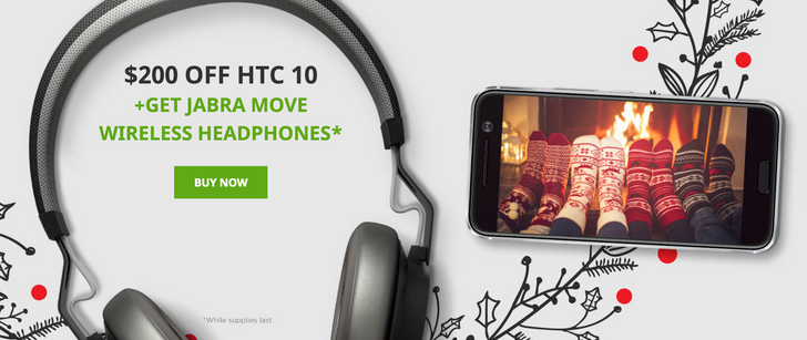[Deal Alert] Get an HTC 10 for $499 ($200 off), plus a free pair of Jabra Move wireless headphones