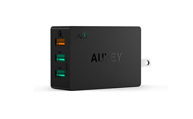 [Deal Alert] Aukey QC 2.0 3-port wall charger on sale for $6 at Amazon ($9 off)