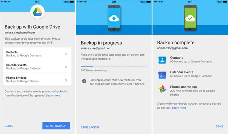 Google makes it easier to switch from iOS to Android with Google Drive backup tool