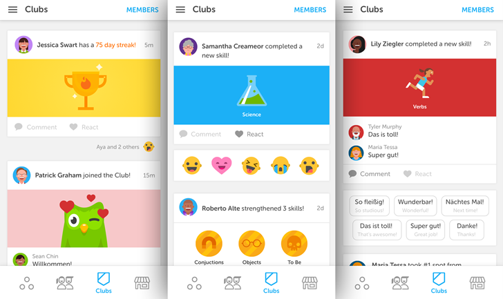 Duolingo Clubs adds new social elements to language learning