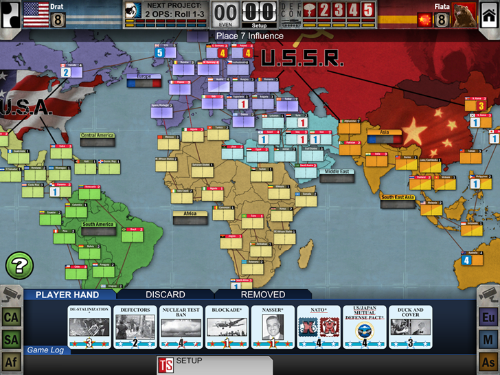Relive the nostalgic dread of the Cold War with board game Twilight Struggle, now in the Play Store