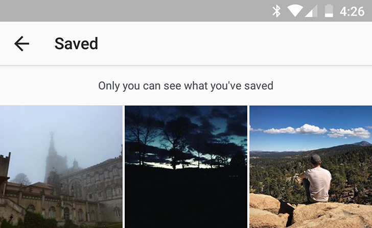 Instagram 10.3 adds 'Saved' tab for keeping photos and videos for later