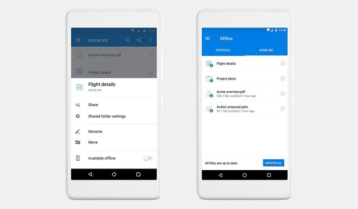 Dropbox announces mobile offline folders for Pro users, with some notable limitations