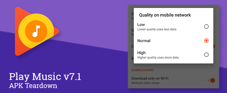 Play Music v7.1 prepares to add an autoplay option and sound quality settings for Wi-Fi and downloading [APK Teardown]
