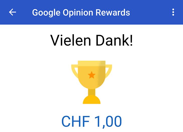 [Update: Austria] Google Opinion Rewards is now available in Switzerland