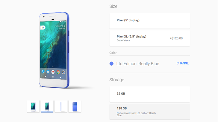 Really Blue Pixel back in stock on the Google Store